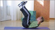 stomach ab exercises: vertical leg crunch